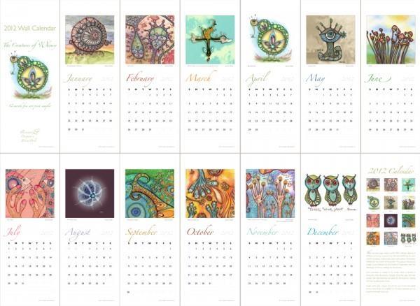 Wall Art Decor: 2016 Fine Art Wall Calendars, Street Art 2016 For Abstract Calendar Art Wall (Image 19 of 20)