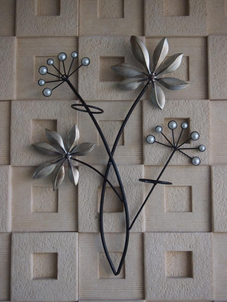 Wall Art Decor: Butterfly Circles Iron Metal Wall Art Pattern Pertaining To Abstract Flower Metal Wall Art (View 6 of 15)