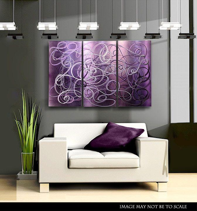 Wall Art Decor Ideas: Stained Glass Purple Abstract Wall Art Brass In Bold Abstract Wall Art (View 20 of 20)