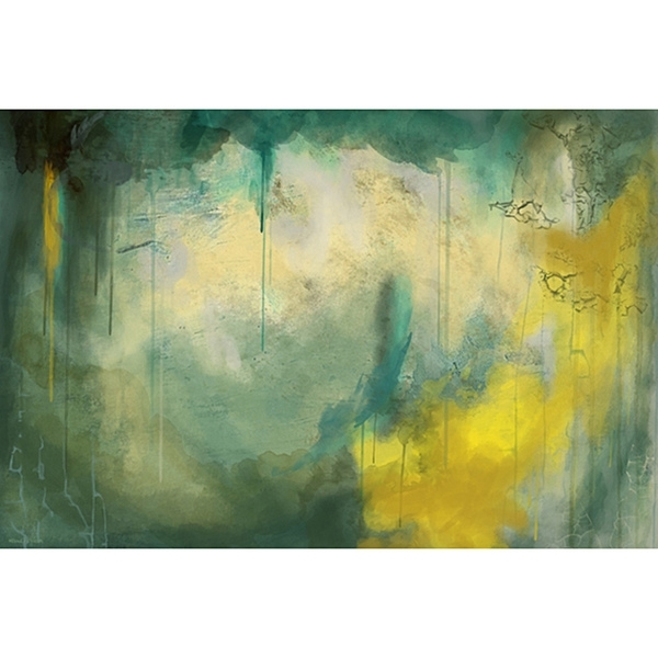 Wall Art Decor: Maxwell Dickson Canvas Abstract Wall Art Paintings With Regard To Green Abstract Wall Art (View 3 of 15)