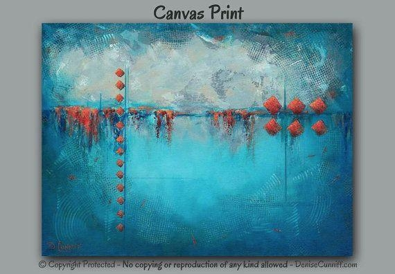 Wall Art Decor: Underwater Concept Large Abstract Canvas Wall Art Inside Bright Abstract Wall Art (View 17 of 20)