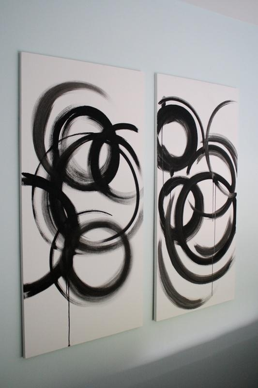 Wall Art Design: Black And White Abstract Wall Art Rectangle 2 In Black And White Abstract Wall Art (Image 16 of 20)