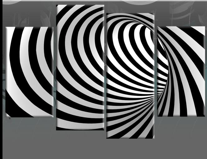 Wall Art Design: Black And White Abstract Wall Art Rectangle For Black And White Abstract Wall Art (Image 17 of 20)