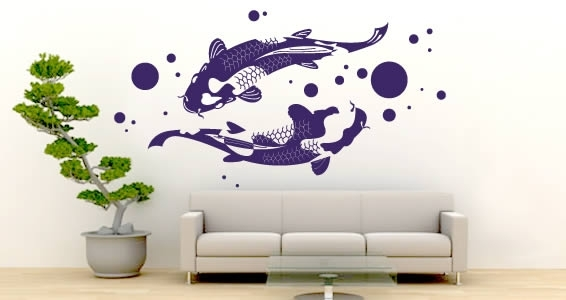 Wall Art Design Ideas: Abstract Imitate Koi Wall Art Object In Abstract Fish Wall Art (View 4 of 15)