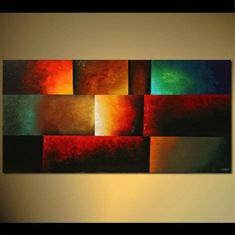 Wall Art Designs: Abstract Wall Art Modern Abstract Art Painting Pertaining To Bright Abstract Wall Art (View 10 of 20)