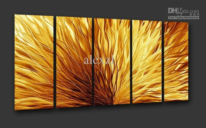 Wall Art Designs: Abstract Wall Art Plate Alumunium Metal Modern In Brown Abstract Wall Art (Photo 14 of 20)