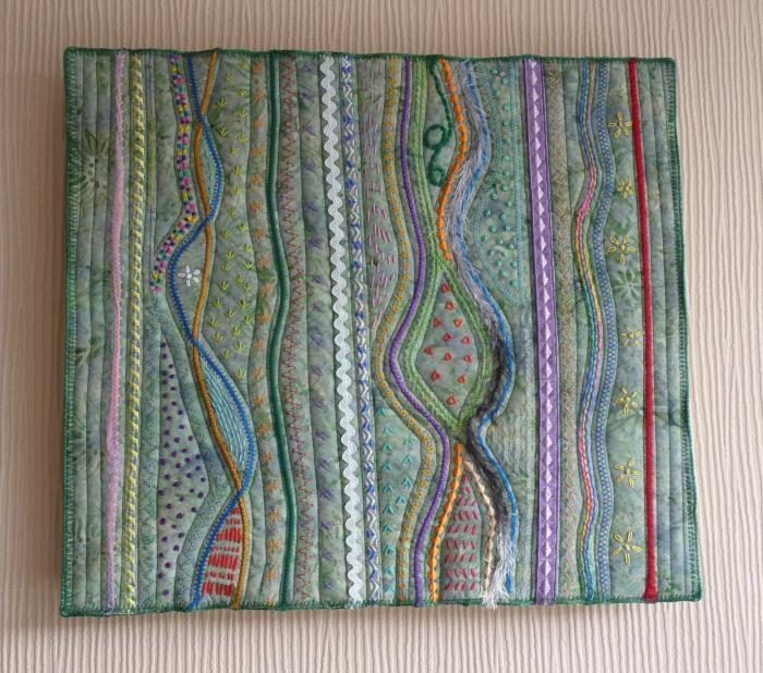 Featured Image of Abstract Fabric Wall Art
