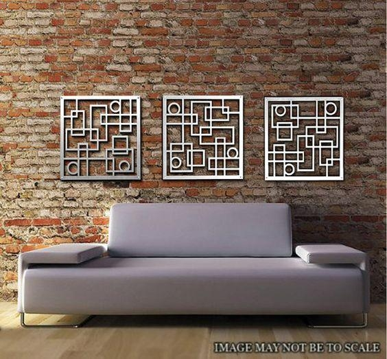 Wall Art Designs: Best 20 Metal Wall Art Decor And Sculptures Throughout Sculpture Abstract Wall Art (Image 14 of 20)