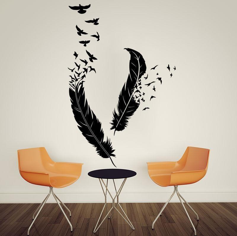 Wall Art Designs: Bird Wall Art Abstract Feathers Flying Birds Inside Abstract Bird Wall Art (View 9 of 20)