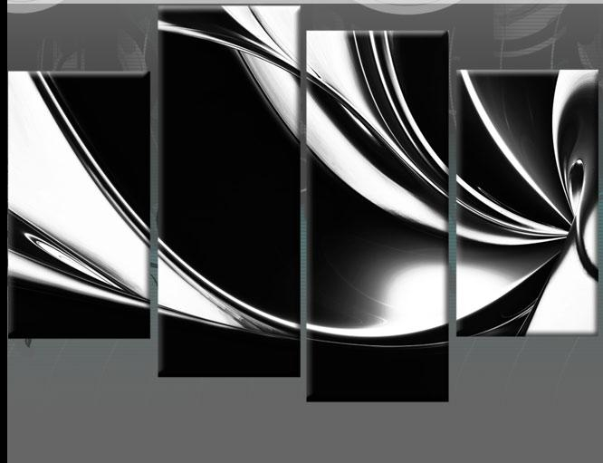 Wall Art Designs: Black And White Canvas Wall Art Wall Art Decor Inside Black And White Abstract Wall Art (View 8 of 20)