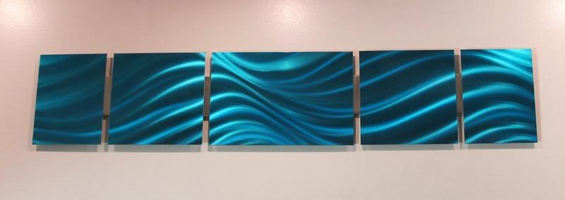 Wall Art Designs: Blue Wall Art Ocean Blue Aluminum Modern With Regard To Aluminum Abstract Wall Art (Image 20 of 20)