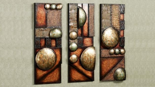 Wall Art Designs: Contemporary Metal Wall Art Modern And Pertaining To Brown Abstract Wall Art (Image 18 of 20)