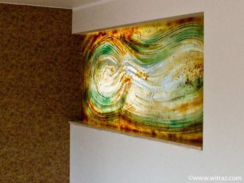 Wall Art Designs: Glass Wall Art Fused Glass Abstract Wall Panel Throughout Glass Abstract Wall Art (Image 15 of 15)