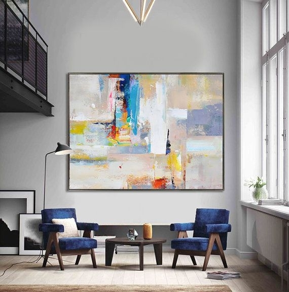 Wall Art Designs: Large Abstract Wall Art Big Wall Art Handmade For Extra Large Canvas Abstract Wall Art (View 13 of 15)