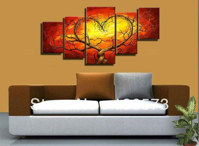 Wall Art Designs: Living Room Wall Art Hand Painted Sexy Wall In Abstract Body Wall Art (View 12 of 20)