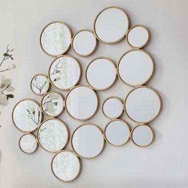 Wall Art Designs: Mirror Wall Art Camilla Glass Wall Art Mirror With Regard To Abstract Circles Wall Art (Image 15 of 20)