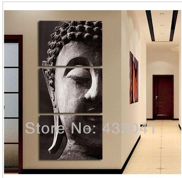 Wall Art Designs: Modern Wall Art Decor Hand Painted Religion Regarding Abstract Buddha Wall Art (Image 19 of 20)