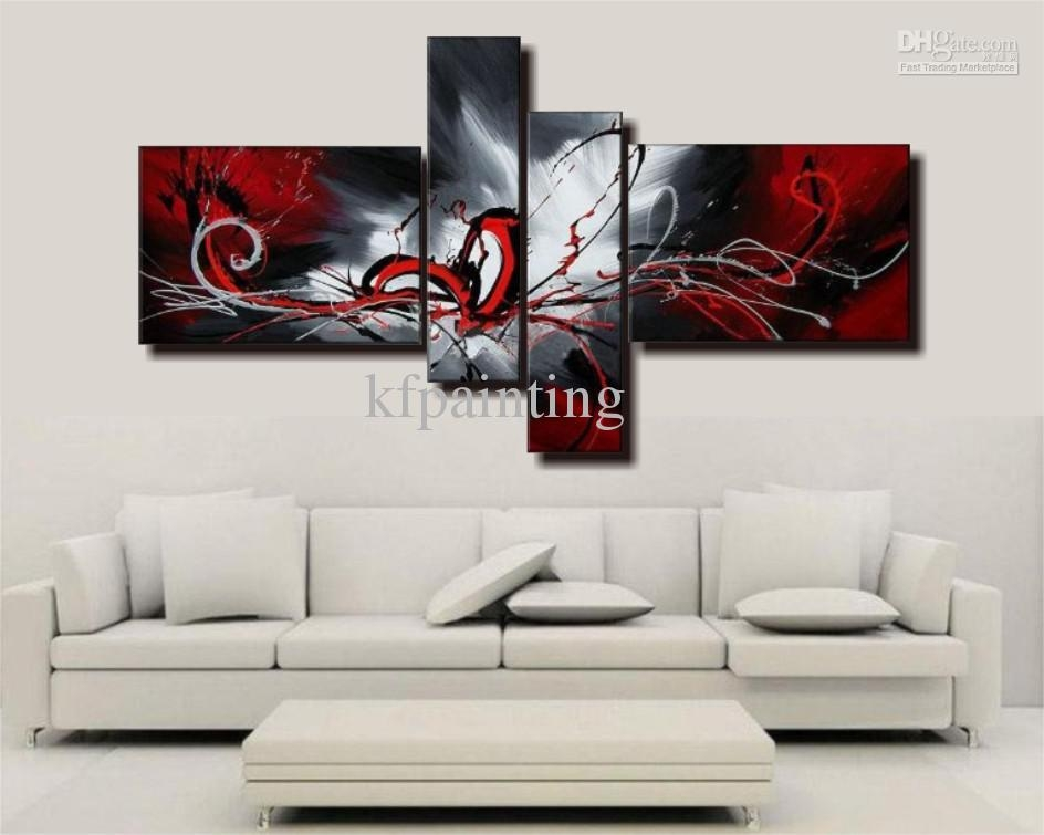 Wall Art Designs: Wall Canvas Art Handpainted Acrylic Abstract Inside Acrylic Abstract Wall Art (View 14 of 20)