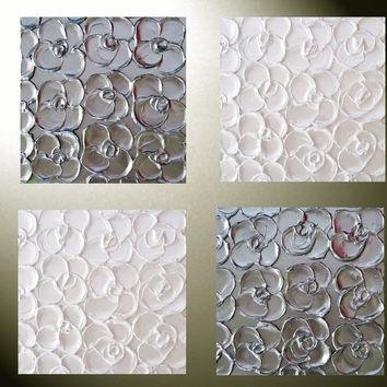Wall Art Ideas Design : Best Custom White Metal Wall Art Abstract In Abstract Flower Metal Wall Art (Image 14 of 15)