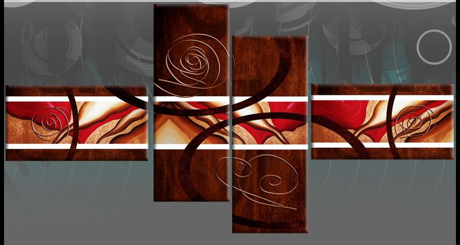 Wall Art Ideas Design : Brown Red Abstract Wall Art Sample Nice Intended For Brown Abstract Wall Art (Image 20 of 20)