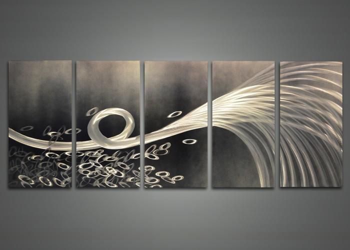 Wall Art Ideas Design : Grey Wallpaper Metal Wall Art Abstract With Abstract Metal Wall Art (View 13 of 20)