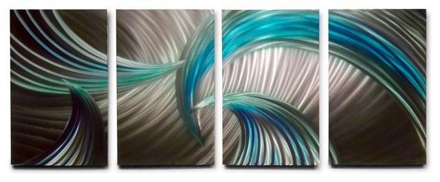 Wall Art: Lastest Ideas Blue And Green Wall Art Blue And Green For Blue Green Abstract Wall Art (Image 18 of 20)