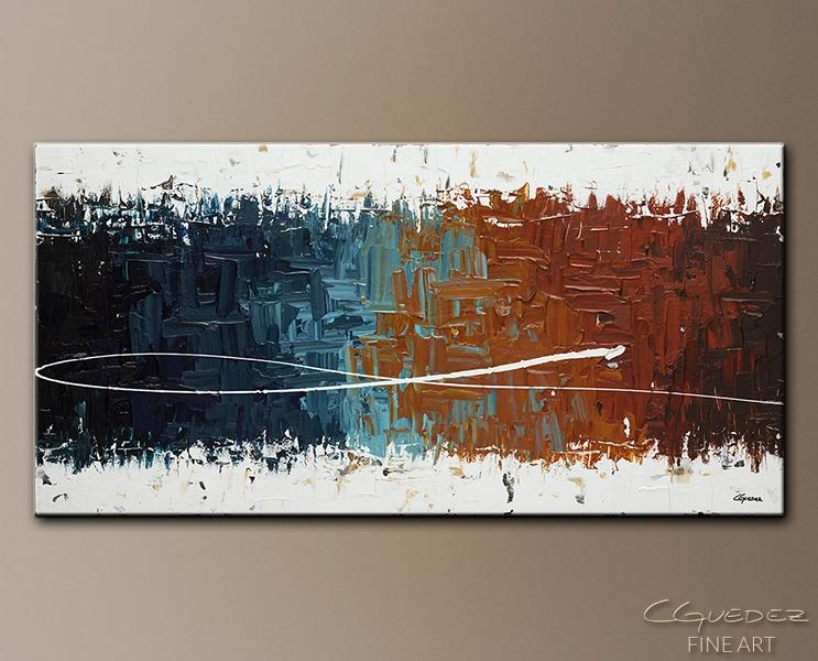 Wall Art Painting Good Feeling – Home Décor Abstract Art – Large With Regard To Large Abstract Wall Art (View 18 of 20)