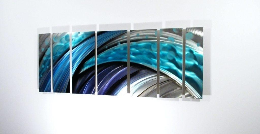 Wall Arts ~ Dark Blue Abstract Wall Art Modern Abstract Metal Wall Inside Dark Blue Abstract Wall Art (Image 15 of 15)