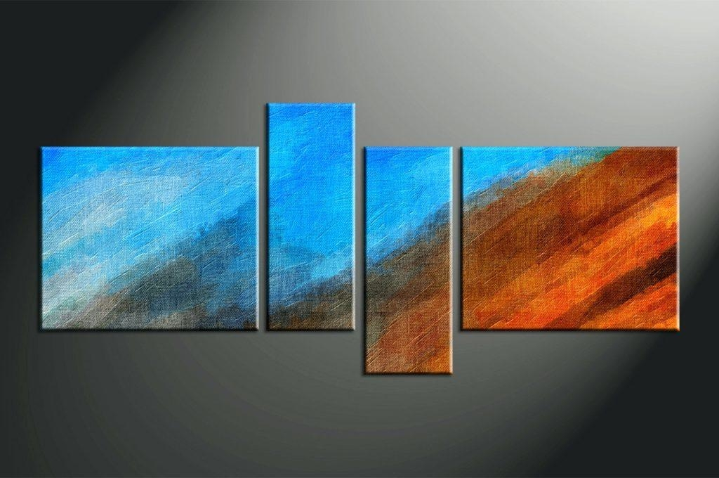 Wall Arts ~ Home Decor 4 Piece Canvas Wall Art Abstract Multi Inside Abstract Wall Art Canada (View 11 of 20)