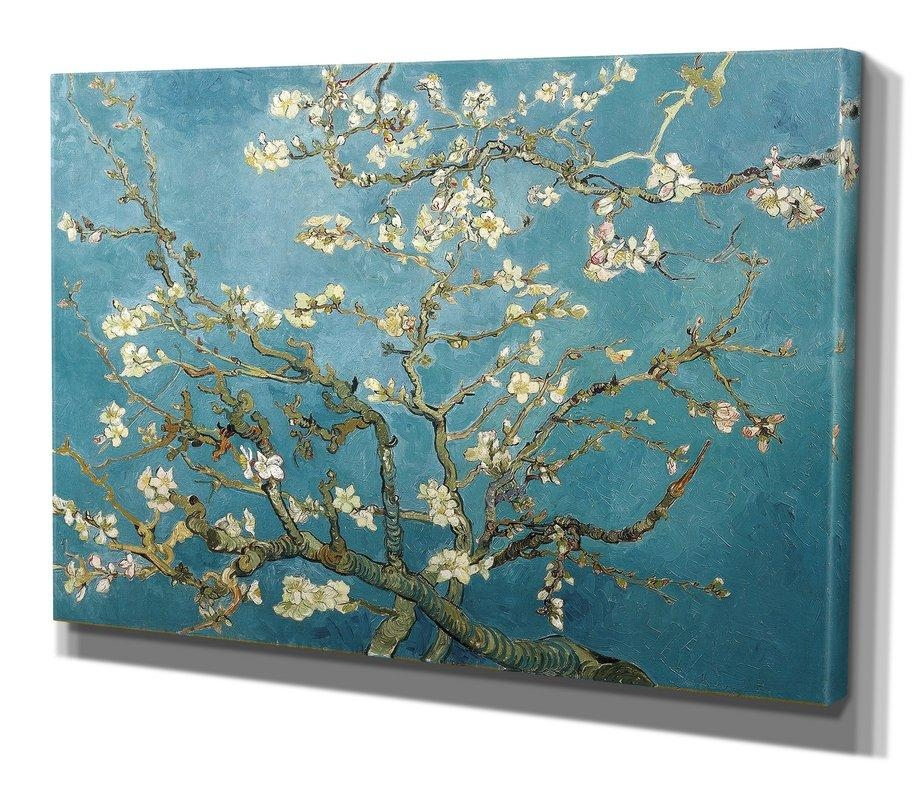 """Wexfordhome """"almond Blossom""""vincent Van Gogh Print Of Painting Intended For Almond Blossoms Vincent Van Gogh Wall Art (View 7 of 20)"""