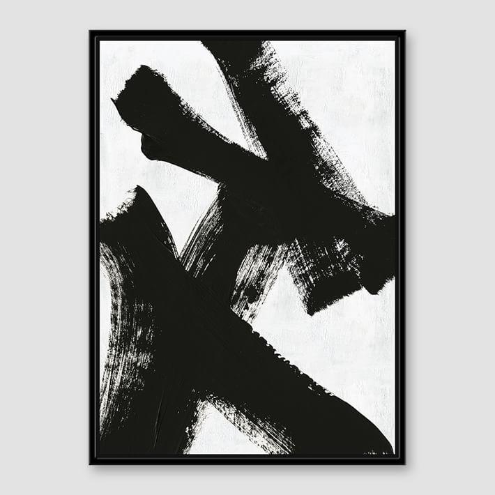 White Brush Stroke Art Canvas With Regard To Black And White Abstract Wall Art (View 19 of 20)