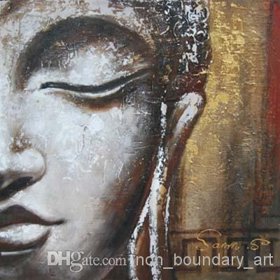 Wholesale Oil Wall Art,hand Painting,wall Canvas Art,religion In Abstract Buddha Wall Art (View 13 of 20)