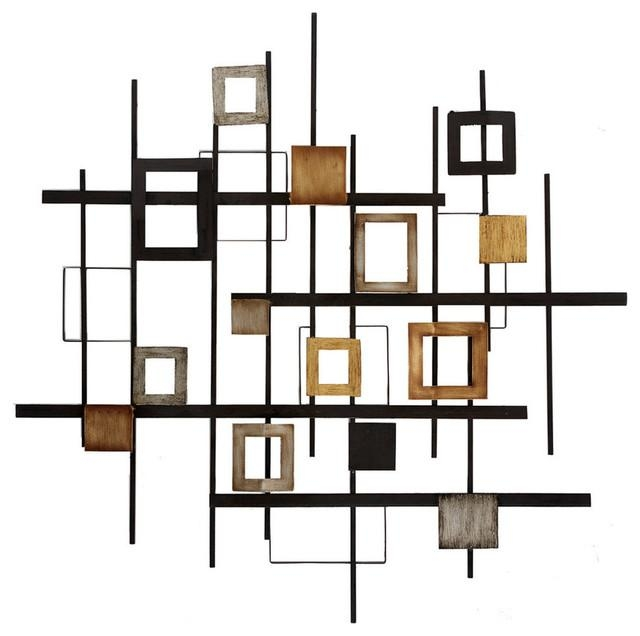 Wonderful Metal Abstract Wall Decor Contemporary Wall Sculptures In Abstract Metal Wall Art (Image 20 of 20)