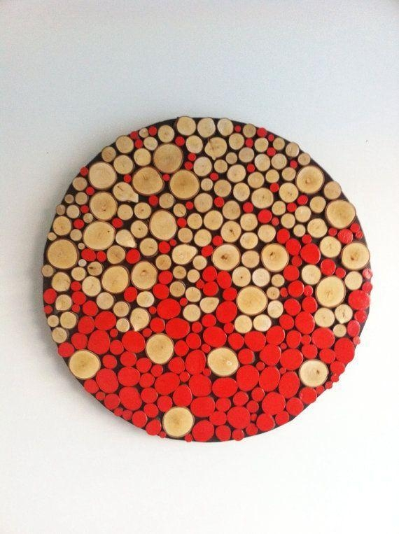 Wood Rounds Wall Decor – Google Search | Diy Projects For Scrap With Regard To Abstract Circles Wall Art (Image 20 of 20)