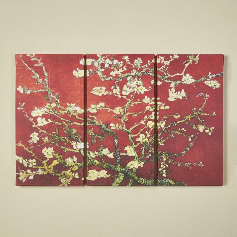World Menagerie 'interpretation In Red Almond Blossom'vincent In Vincent Van Gogh Multi Piece Wall Art (View 19 of 20)