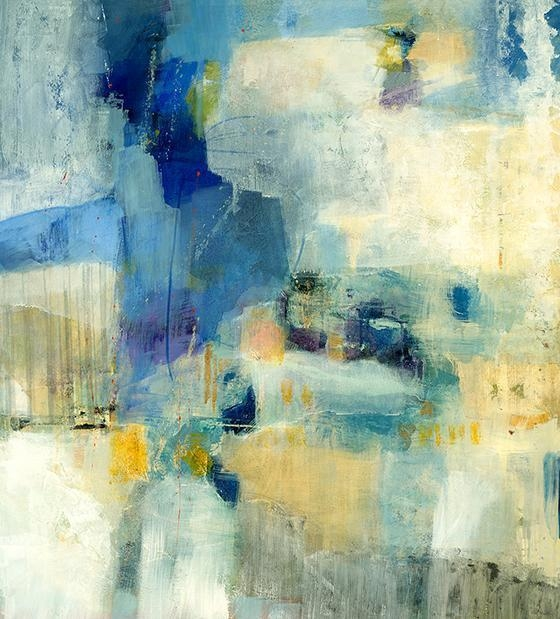 Yellow And Blue Abstract Wall Art regarding Blue Canvas Abstract Wall Art