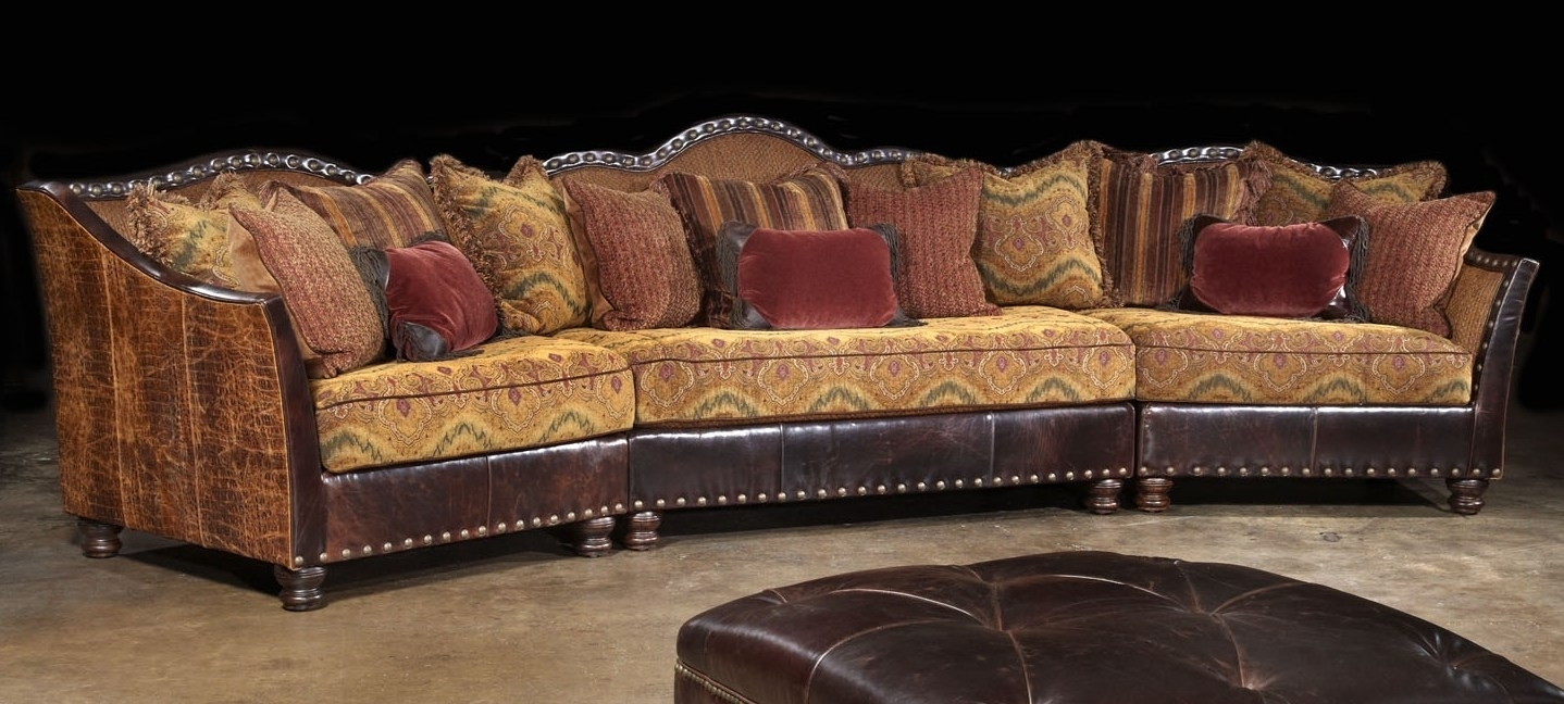 01 Western Furniture. Custom Sectional Sofa, Chairs, Hair Hide Ottoman with High End Sectional Sofas