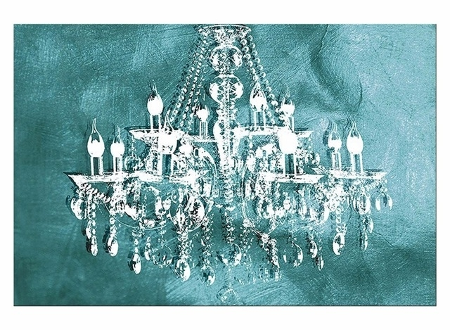 1 Panel Modern Painting Canvas Art Crystal Chandelier Pattern With Regard To Chandelier Canvas Wall Art (View 15 of 15)