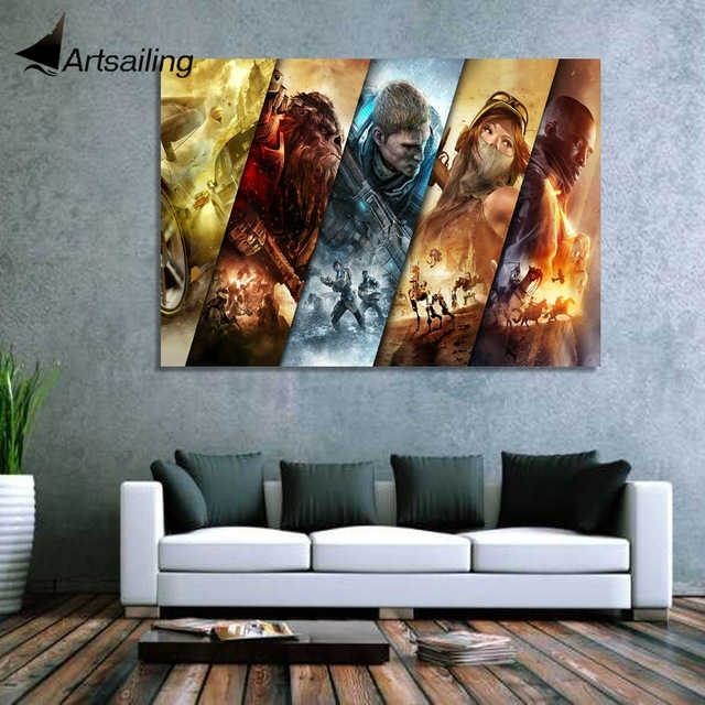 1 Piece Canvas Art Canvas Painting Xbox Games Jump Ahead Hd Within Jump Canvas Wall Art (Image 1 of 15)