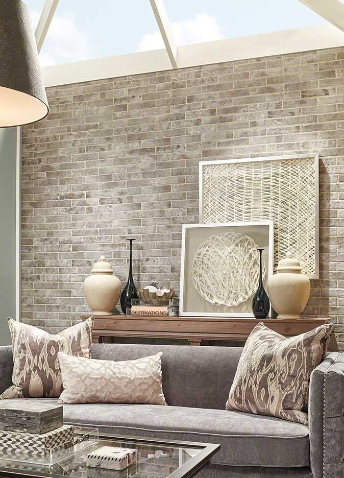 10+ Awesome Accent Wall Ideas Can You Try At Home | Brick Flooring For Brick Wall Accents (Image 1 of 15)
