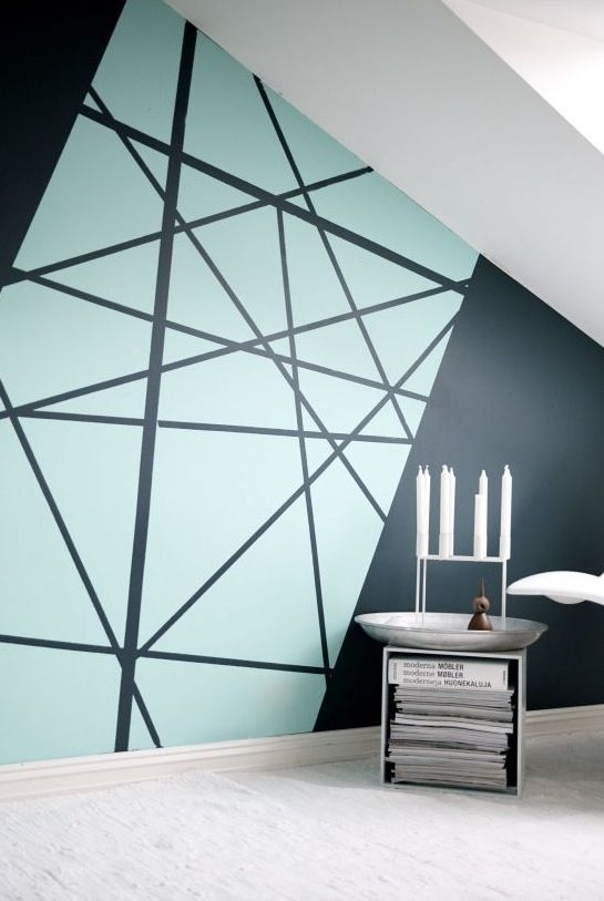 10+ Awesome Accent Wall Ideas Can You Try At Home | Graphic Wall pertaining to Geometric Shapes Wall Accents