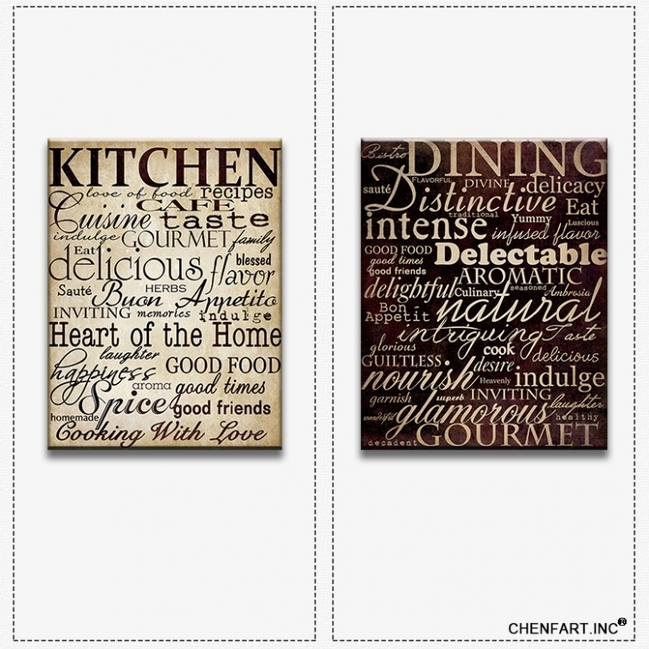 10 Best Collection Of Kitchen Canvas Wall Art Intended For Image
