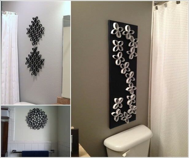 10 Creative Diy Bathroom Wall Decor Ideas Intended For Diy Wall Accents (Image 1 of 15)