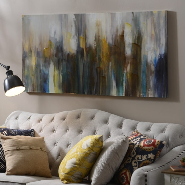 10 Ideas For Decorating Over The Couch - My Kirklands Blog for Kirklands Canvas Wall Art