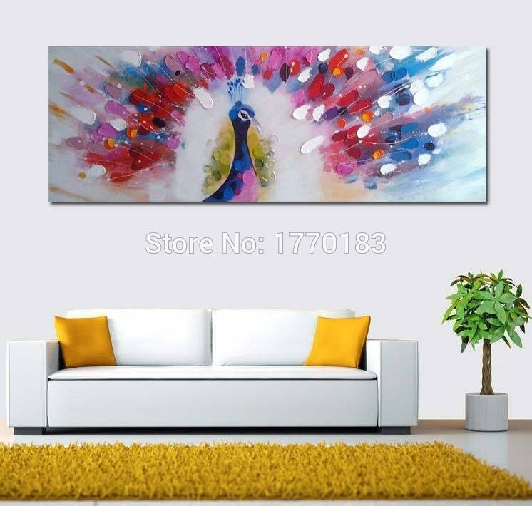 100% Hand Painted Canvas Wall Art Large Abstract Oil Painting With Hand Painted Canvas Wall Art (View 9 of 15)
