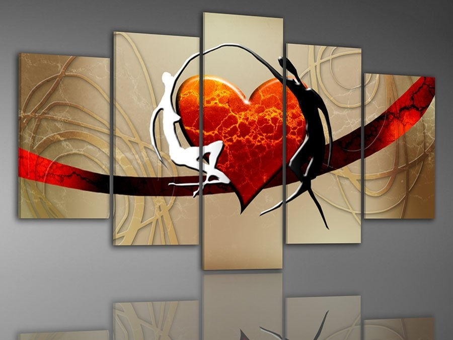 100% Hand Painted Oil Painting On Canvas Pictures Frame Color Pertaining To Abstract Landscape Wall Art (Image 1 of 15)