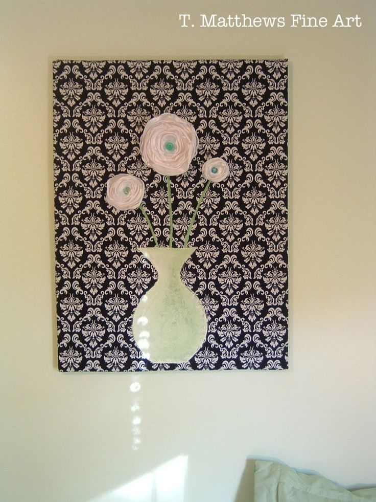 102 Best Wall Art Sewing Patterns Images On Pinterest | Art Crafts with Simple Fabric Wall Art
