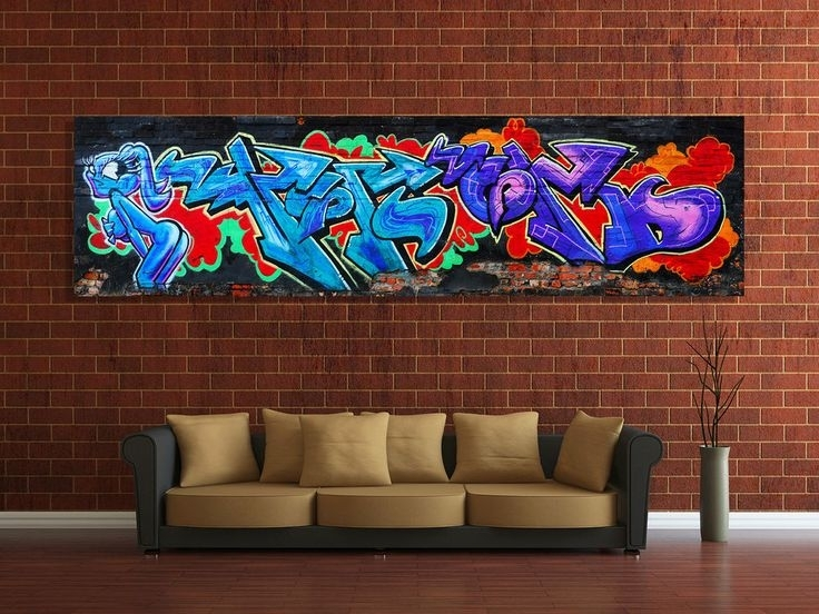 103 Best Graffiti & Wall Coverings Images On Pinterest | Graffiti Inside Graffiti Canvas Wall Art (Image 1 of 15)