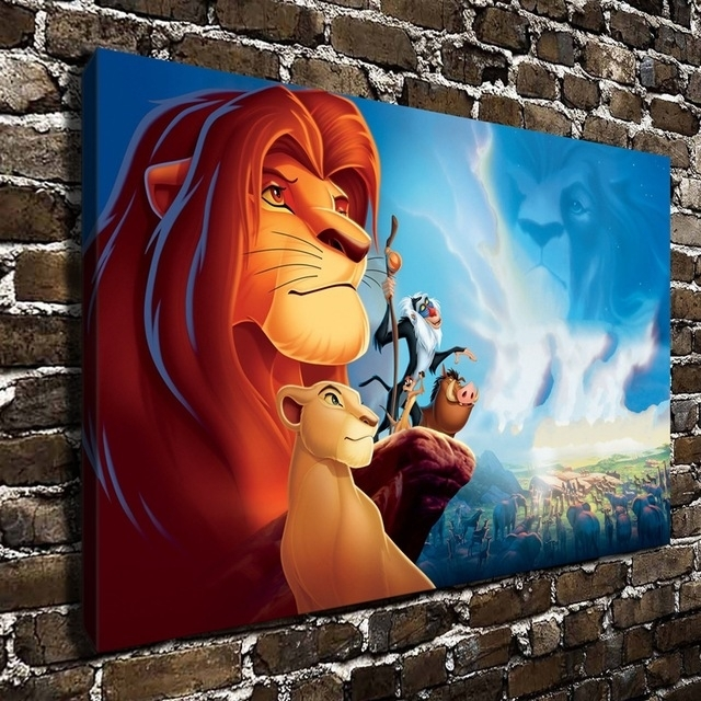 10500 The Lion King Simba Children Cartoon Film, Hd Canvas Print For Lion King Canvas Wall Art (Image 1 of 15)