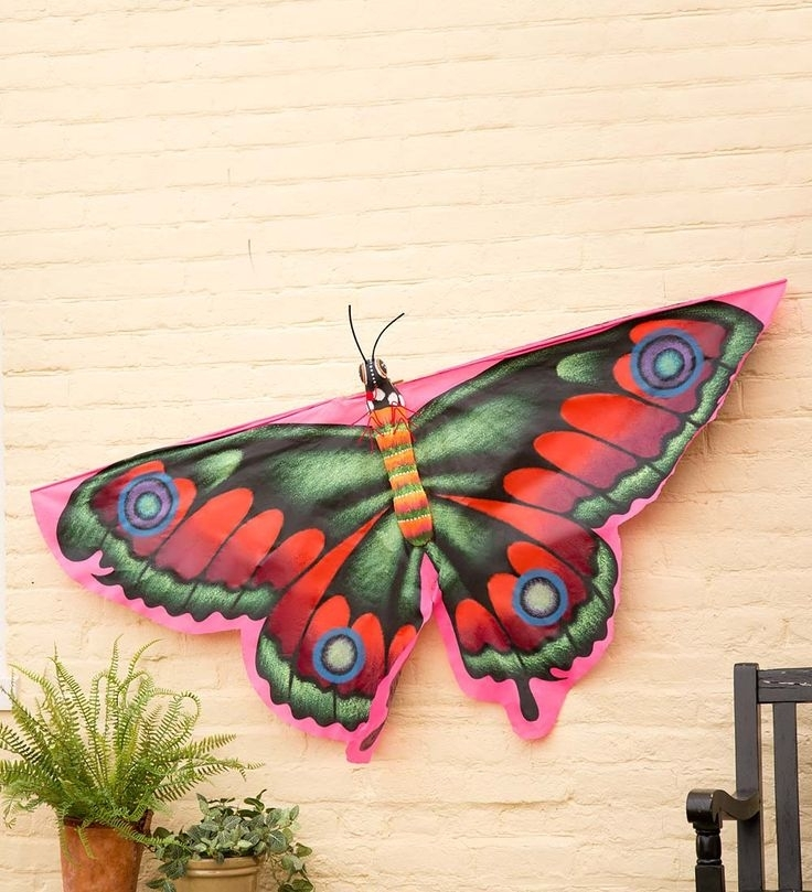 106 Best Butterflies Images On Pinterest | Butterflies, Weather With Fabric Butterfly Wall Art (Image 1 of 15)